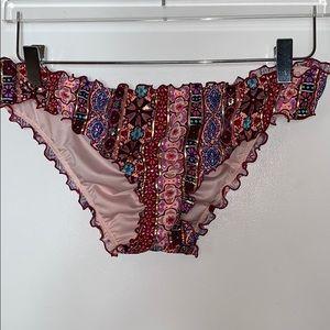 NWOT Shade & Shore multi colored bikini bottoms 15